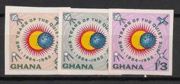 Ghana - 1964 - N°Yv. 156 à 158 - Soleil Calme - Non Dentelés / Imperf. - Neuf Luxe ** / MNH / Postfrisch - Ghana (1957-...)