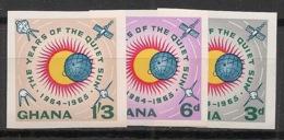 Ghana - 1964 - N°Yv. 156 à 158 - Soleil Calme - Type II - Non Dentelés / Imperf. - Neuf Luxe ** / MNH / Postfrisch - Ghana (1957-...)