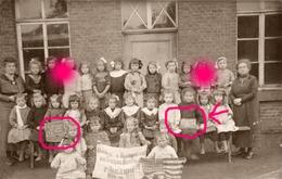 Guerre 14/18 FEIGNIES 1919  école Des Filles Remerciements Aux Américains Généreux Bienfaiteurs / RARE - Feignies