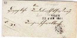 Brief Von Usingen/Ts., Aus Dem Jahr 1854 - Historical Documents
