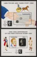 Tanzania - 1991 - N°Mi. Bloc 131 à 132 - London 90 - Neuf Luxe ** / MNH / Postfrisch - Tanzania (1964-...)