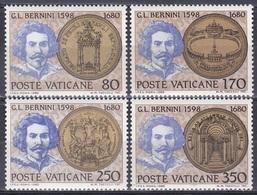 Vatikan Vatican 1980 Persönlichkeiten Kunst Arts Kultur Culture Bildhauer Maler Bernini Petersdom, Mi. 771-4 ** - Vatikan