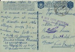 FRANCHIGIA POSTA MILITARE 43 1943 GRASSE FRANCIA X FASANO - 1900-44 Vittorio Emanuele III