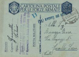 FRANCHIGIA POSTA MILITARE 29 1940 LANSLEBOURG FRANCIA X VARALLO SESIA - 1900-44 Vittorio Emanuele III