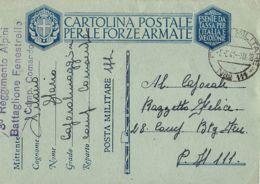 FRANCHIGIA POSTA MILITARE 111 1941 LANSLEBOURG FRANCIA X P.M. 111 - 1900-44 Vittorio Emanuele III