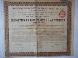 HOUILLERES Du NORD Et Du PAS De CALAIS 1931 - Aandelen