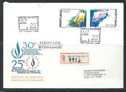Portugal - FDC 07/12/1978 Des N°1401/02 - Droits De L'homme - Recommandé Ayant Voyagé - 1910-... République