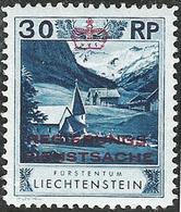 Liechtenstein 1932: Zu+Mi Dienst 4 A Zähnung Dentelure Perforation 10 1/2) * Falzspur Trace MLH (Zu CHF 65.00 -50%) - Service