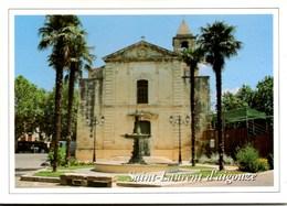 SAINT-LAURENT-d'AIGOUZE L'Eglise & La Fontaine Le Griffou CPSM Ecrite Mais TBE - France