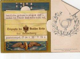Allemagne,Cpa à Systéme,Telegraphe Des Deutfchen Reichs Umt Heidelberg (complete Avec 10 Mini-vues) - Heidelberg