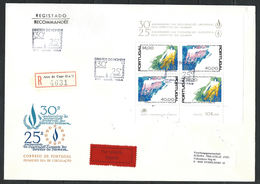 Portugal - FDC 07/12/1978 Du Bloc N°24 - Droits De L'homme - Recommandé Ayant Voyagé - 1910-... République