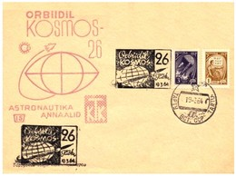 Sowjetunion / Russia: Stempel 'Kosmos-26, 1964' / Cancel 'Cosmos-26 [research Satellite] In Space', Tartu - Lettres & Documents