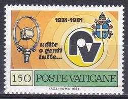 Vatikan Vatican 1981 Kommunikation Communication Technik Technology Radio Marconi Mikrophon Microphone, Mi. 780 ** - Vatikan