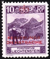 Liechtenstein 1932: Zu+Mi Dienst 2 A Zähnung Dentelure Perforation 10 1/2) * Falzspur Trace MLH (Zu CHF 325.00 -50%) - Service