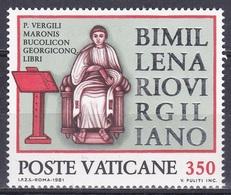 Vatikan Vatican 1981 Persönlichkeiten Literatur Literature Schriftsteller Wrighter Dichter Poet Vergil, Mi. 783 ** - Ungebraucht