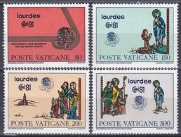 Vatikan Vatican 1981 Religion Christen Eucharistie Lourdes Maria Pilger Pilgrim Heilige Bernadette, Mi. 785-8 ** - Vatikan