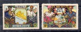 Serie NºA-59/60 Liberia - Liberia