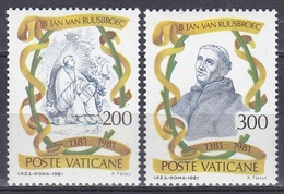 Vatikan Vatican 1981 Religion Christen Persönlichkeiten Johannes Van Ruusbroec Mystiker Mysthic, Mi. 789-0 ** - Vatican