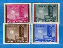 Ref.(MN1) AFGHANISTAN **-1961 - Journée Des Nations Unies. Yvert 594-595-596-597. 4 Valeur. MNH Neuf.  Vedi Descrizione - Afghanistan