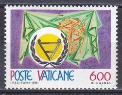 Vatikan Vatican 1981 Organisationen UNO ONU Jahr Der Behinderten Christus Dornenkrone Disabled Persons, Mi. 791 ** - Ungebraucht