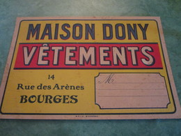 MAISON DONY - Vêtements - 14, Rue Des Arènes (Cartonnage Publicitaire) - Bourges