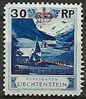 Liechtenstein 1932: Zu+Mi Dienst 4 B Zähnung Dentelure Perforation 11 1/2) * Falzspur Trace MLH (Zu CHF 55.00 -50%) - Service