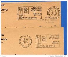 Ar2339 2 Secap2595 Strasbourg Journées Alsaciennes Sanitaire O= =o Bas Rhin 1970 / 2 Lettres - Marcophilie (Lettres)
