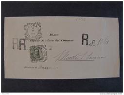 """4032 ITALIA Regno -1891-96-""""Effigie"""" C. 45 ROMA>MONTE SAN SAVINO (descrizione) - 1878-00 Umberto I"""