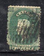 APR218 - CEYLON 1863 , Yvert N. 33 Usato. Fil CC  (2380A) - Ceylon (...-1947)