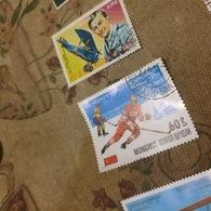 MONGOLIA CAMPIONATI MONDIALI HOCKEY - Stamps