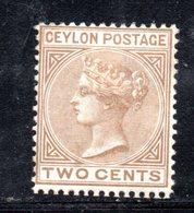 APR253 - CEYLON 1872 , Yvert N. 48 Nuovo Senza Gomma. Fil CC  (2380A) - Ceylon (...-1947)