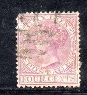 APR298 - CEYLON 1872 , Yvert N. 50  Usato. Fil CC  (2380A) - Ceylon (...-1947)