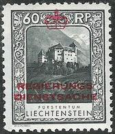Liechtenstein 1932: Zu+Mi Dienst 7 A Zähnung Dentelure Perforation 10 1/2) * Falzspur Trace MLH (Zu CHF 42.00 -50%) - Service