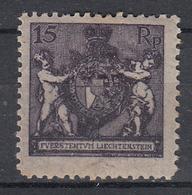 LIECHTENSTEIN - Michel - 1921 - Nr 52B - MH* - Liechtenstein