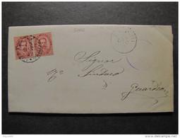 """3804 ITALIA Regno-1879- """"Effigie"""" C. 10 Coppia BASCHI>GUARDEA (descrizione) - Marcophilia"""