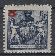 LIECHTENSTEIN - Michel - 1924 - Nr 61B - MH* - Liechtenstein