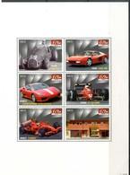 """NIUE 2007** - 60° Anniversario """"FERRARI"""" - Block Di 6 Val. MNH, Come Da Scansione. - Automobile"""