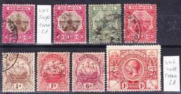 Bermuda 1902-1921 Lot 1, See Wmk. Descriptions Used O - Bermuda
