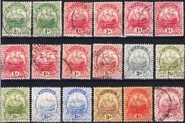 Bermuda 1922-1932 Lot 2, Definitives With Wmk Crown Script CA, Used O - Bermuda
