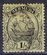Bermuda 1934 Definitive Wmk Crown Script CA, Mi 80b, SG 87a Brownish Black On Yellow-green Used O - Bermuda