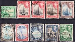 Bermuda 1936-1943 Lot 3, Definitives Including Mi 103/ SG 112 Used O - Bermuda