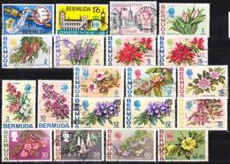 Bermuda 1968-1974 Lot 6, Issues Of Internal Authonomy, Flower Definitives Used O - Bermuda