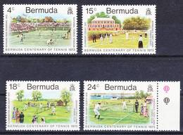 Bermuda 1973 Complete Set Bermuda Centenary Of Tennis Mi 293-296 MNH ** - Bermuda