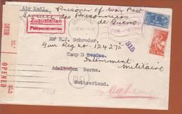 Lettre Par Avion De Mafeking 21.03.1944-> Camp D'évadé Adelboden(Suisse) - Zensur/censored/Censure Afr. Du Sud B + OKW X - Militaria