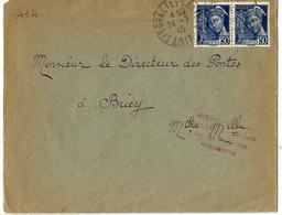 Lettre- Obl. :24.07.1940  Sur 414 - Mention: Acheminement Et Distribution Autorisés Par Les Autorités Allemandes - Storia Postale