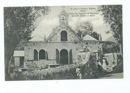 Postcard  Nevis Ref Nelson   British West Indies    Unposted  Pub. A.moure Losada 60a St.john's Church Animated - Saint Kitts And Nevis