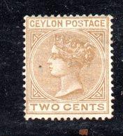 APR611 - CEYLON 1883 ,  Yvert N. 67  Nuovo Senza Gomma. Fil CA  (2380A). - Ceylon (...-1947)