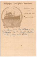 GEORGIA Steam Ship 1895 Compagnia Amburghese-Americana - Steamers
