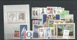 1992 MNH Denmark, Dänemark, Year Complete, Postfris - Danimarca