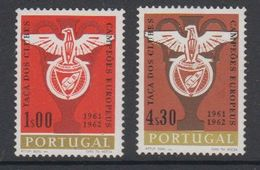 Portugal 1962 Benfica European Champion Football 2v ** Mnh (small Spots On Gum)  (42714B) - 1910-... Republiek